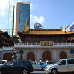View of EM school building behind Jing'an Temple